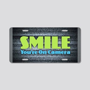 Smile You're On Camera Aluminum License Plate
