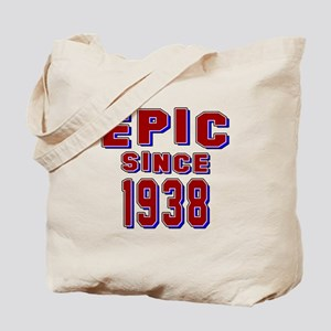 Epic Since 1938 Birthday Designs Tote Bag