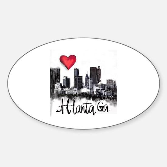 Cute Atlanta Sticker (Oval)
