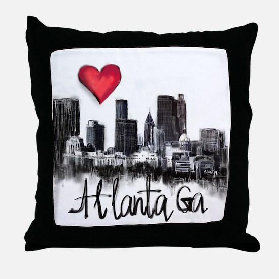Cute Atlanta Throw Pillow