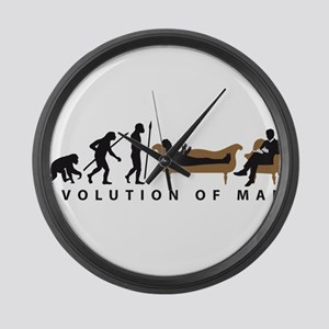 Evolution Therapist Psychologist Large Wall Clock