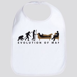 Evolution Therapist Psychologist Baby Bib
