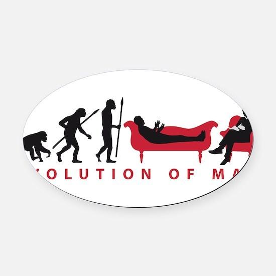 Evolution Therapist Psychologist Oval Car Magnet
