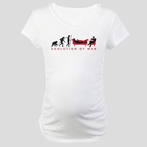 Evolution Therapist Psychologist Maternity T-Shirt