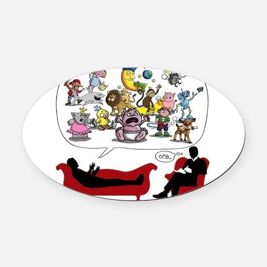 Therapist Psychologist Oval Car Magnet
