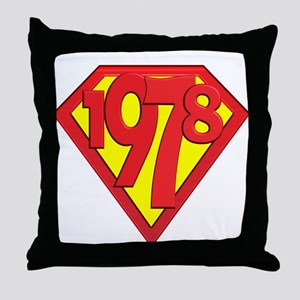 1978, 30th Gifts Throw Pillow