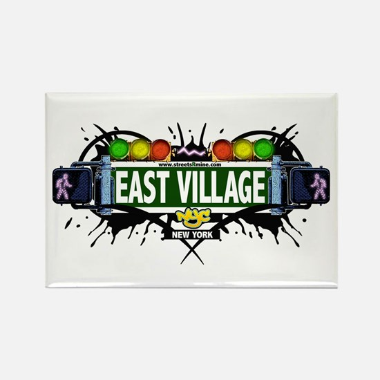 East Village (White) Rectangle Magnet
