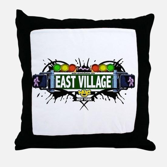 East Village (White) Throw Pillow