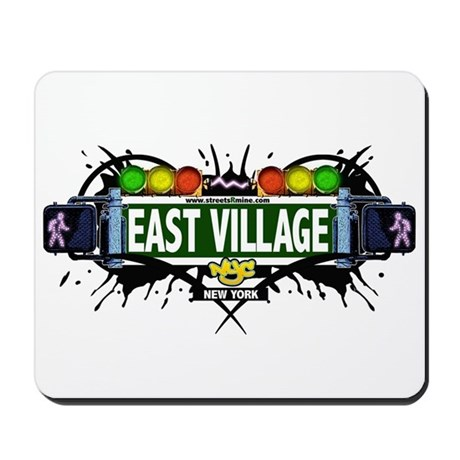 East Village (White) Mousepad