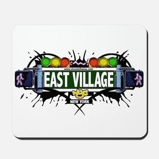 East Village (White) Mousepad
