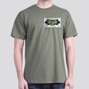 East Village (White) Dark T-Shirt