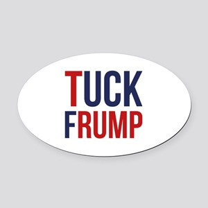 Tuck Frump Oval Car Magnet