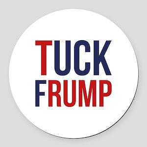 Tuck Frump Round Car Magnet