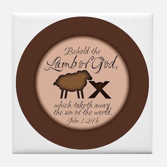 Cute Lamb Tile Coaster