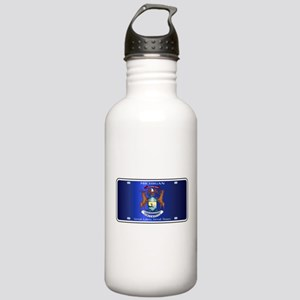Michigan License Plate Stainless Water Bottle 1.0L