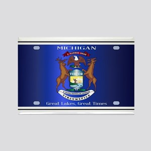 Michigan License Plate Flag Magnets