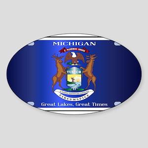 Michigan License Plate Flag Sticker