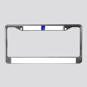 Happy Fathers Day Rocket License Plate Frame