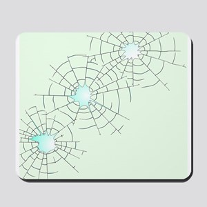 Bullet Holes in Glass Mousepad