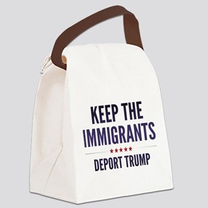 Keep The Immigrants Canvas Lunch Bag