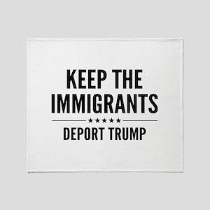 Keep The Immigrants Stadium Blanket
