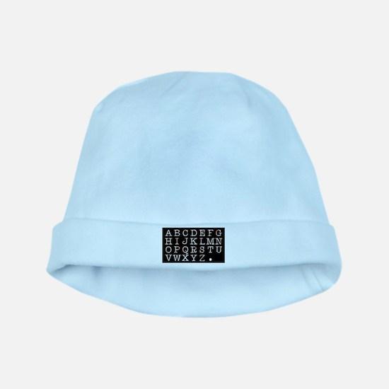Alphabet baby hat