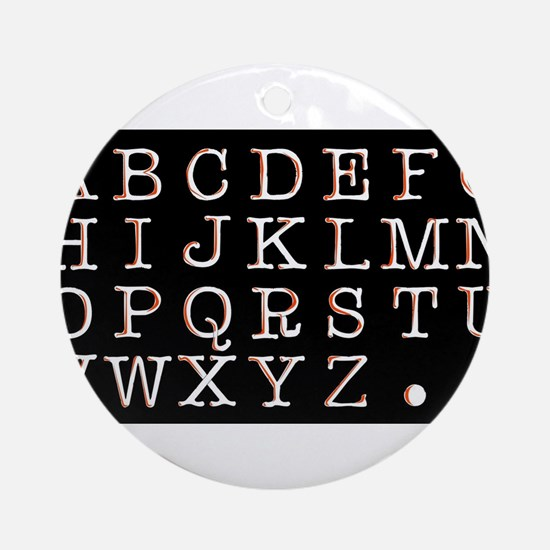 Alphabet Round Ornament