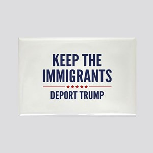 Keep The Immigrants Rectangle Magnet