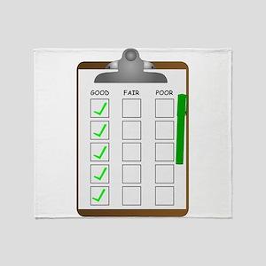 Clipboard Checklist Throw Blanket