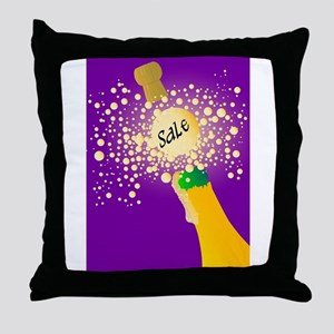 Bubbly Sale Throw Pillow