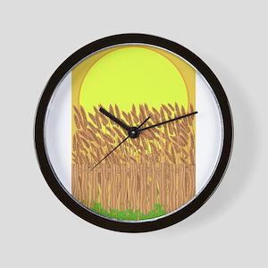 Crop Field Wall Clock