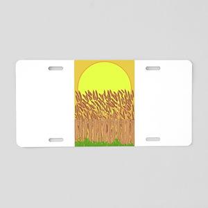 Crop Field Aluminum License Plate