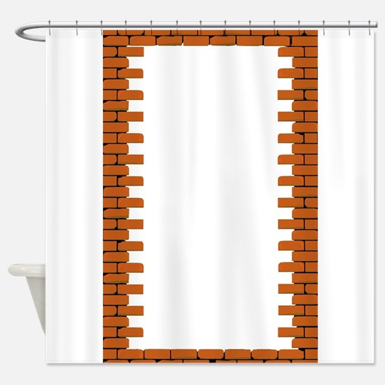Hole in a Brick Wall Shower Curtain