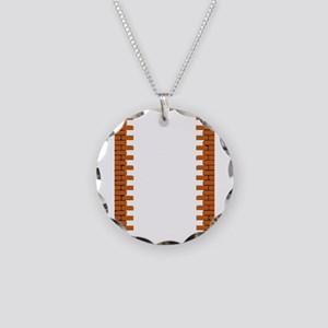 Hole in a Brick Wall Necklace Circle Charm