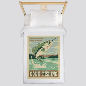 Fishing Twin Duvet