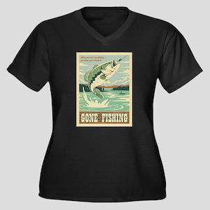 Fishing Plus Size T-Shirt