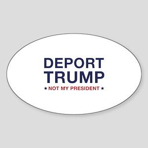 Deport Trump Sticker (Oval)