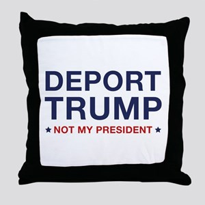 Deport Trump Throw Pillow