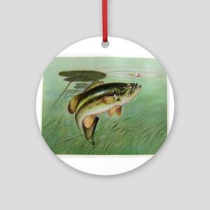 Fishing Round Ornament