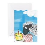 happy b-day 2 ewe Greeting Card