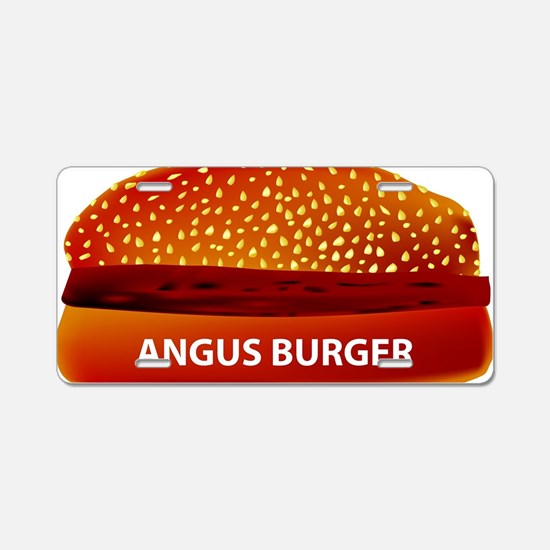 Cute Angus beef Aluminum License Plate