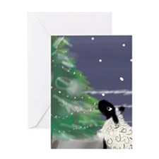 On a Cold Winter's Night Greeting Cards