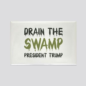 Drain The Swamp Rectangle Magnet