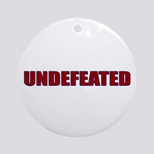 Undefeated Ornament (Round)