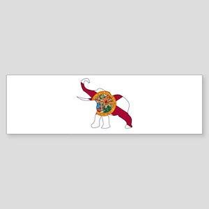Texas Democrat Donkey Flag Bumper Sticker
