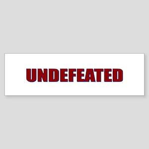 Undefeated Bumper Sticker