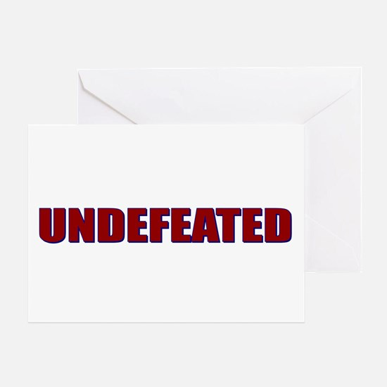 Undefeated Greeting Card