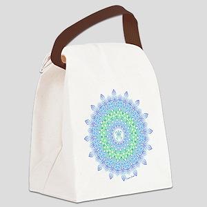 Tribal Turtle Mandala Canvas Lunch Bag