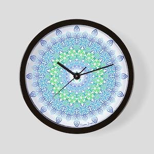 Tribal Turtle Mandala Wall Clock