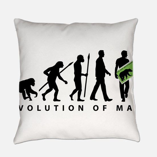 Evolution Stamp collector Everyday Pillow